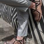 Black Handmade leather sandals